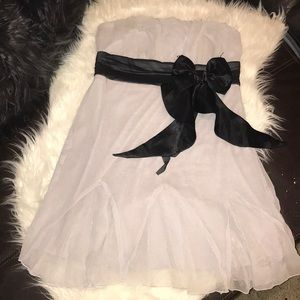 Formal dress with bow.